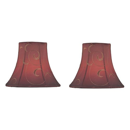 Red Scroll Candelabra Shade Sets