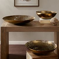 INK+IVY Orly Decorative Brass Bowl Table Decor Collection