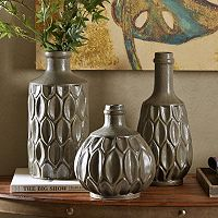 INK+IVY Teigan Textured Vase Collection