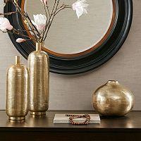 Madison Park Klynn Gold Finish Vase Collection