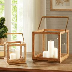 Madison Park Parker Wood Lantern Table Decor Collection