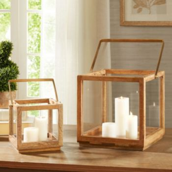 Madison Park Parker Wood Lantern Table Decor Collection