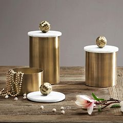 Madison Park Kayden Gold Finish Decorative Canister Collection