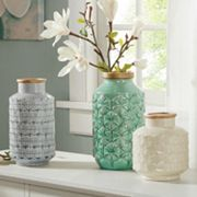 Madison Park Averly Modernist Textured Vase Collection