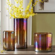 Madison Park Signature Luster Glass Hurricane Vase Collection