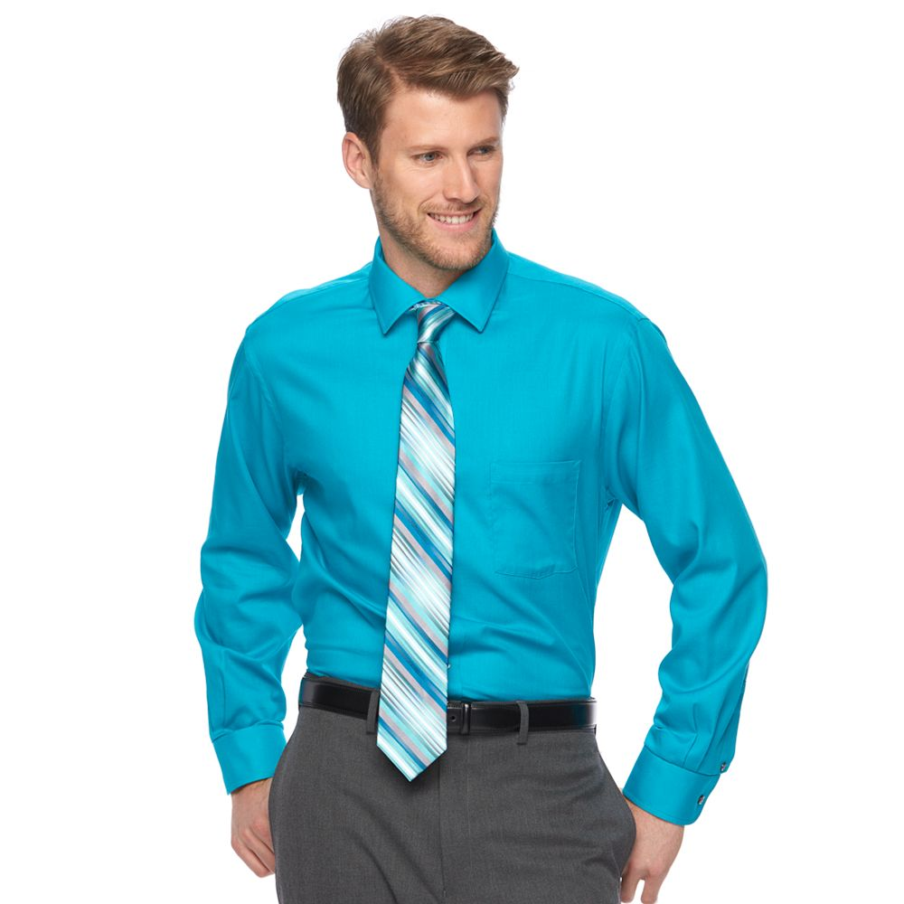 Mens Van Heusen Dress Shirt Tie Combination
