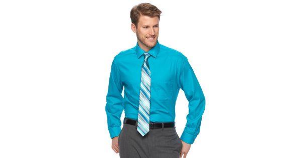 Men 39 s van heusen dress shirt tie combination for Dress shirts and tie combos sale