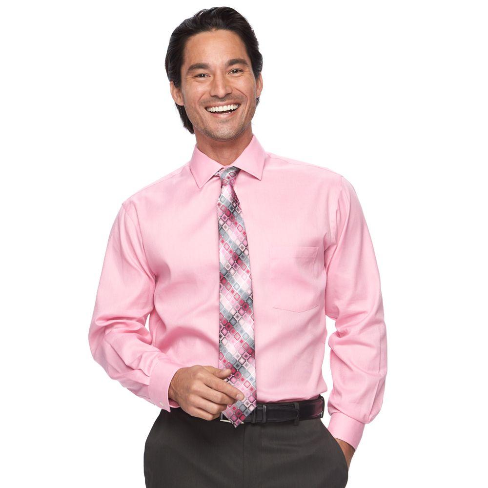 Mens Van Heusen Dress Shirt Tie Combination