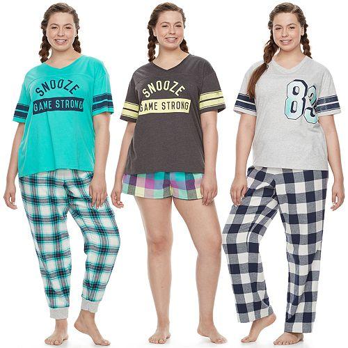 c017060eea Juniors  Plus Size SO® Naptime Squad Pajama Separates