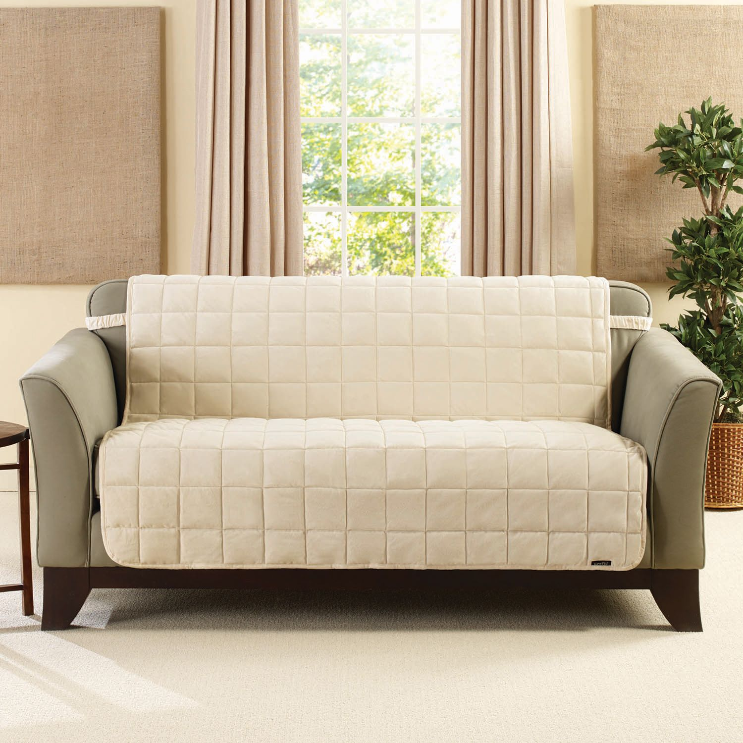 sure fit deluxe comfort armless slipcover collection sale