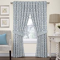 Waverly Donnington Damask Window Treatment Collection