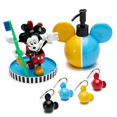 disneys mickey minnie mouse bath accessories collection by jumping