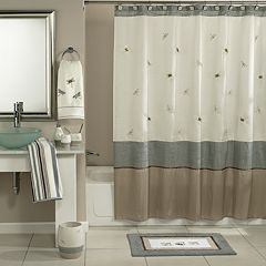 home classics shalimar dragonfly shower curtain collection - Shower Curtain Design Ideas