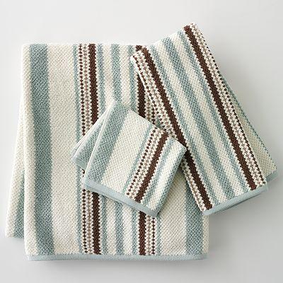 Peri Home Towels: ***Brand New*** 2-pk. PERI Shalimar Striped Bath Towels