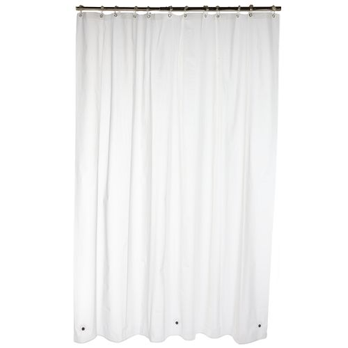 Frosted SHOWER CURTAIN 70x72 Heavy Weight Bath Liner Reinforced w Metal Grommets