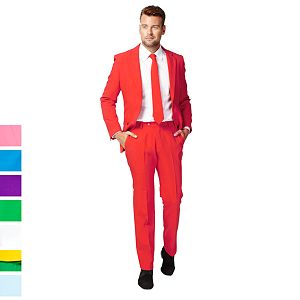 Men's OppoSuits Slim-Fit Solid Suit & Tie Collection