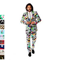 Men's OppoSuits Slim-Fit Novelty Pattern Suit & Tie Collection