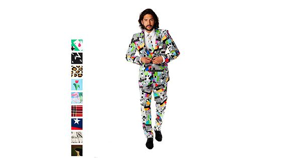 Men S Opposuits Slim Fit Novelty Pattern Suit Amp Tie Collection