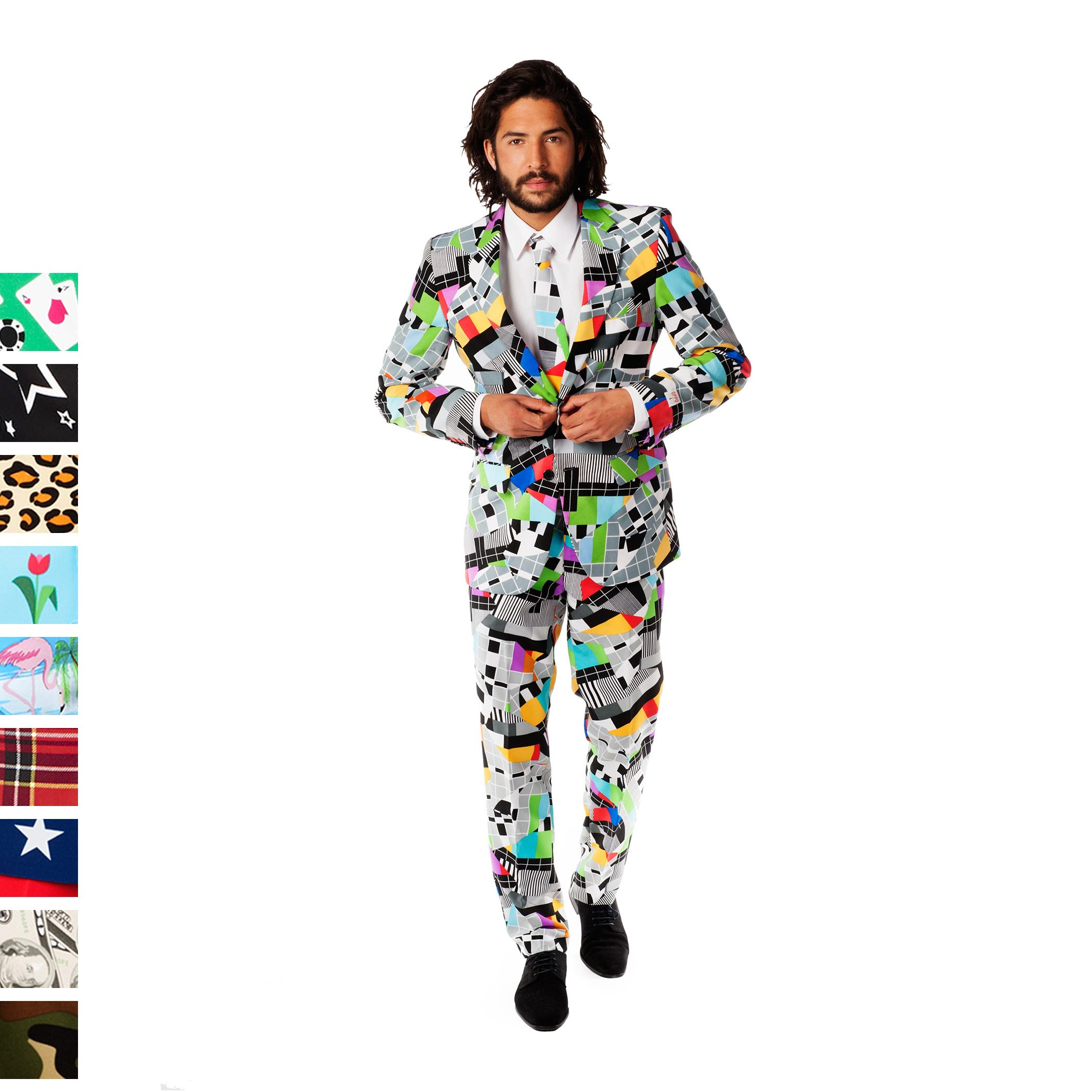 0b4e941f7e45 Menu0027s OppoSuits Slim-Fit Novelty Pattern Suit U0026 Tie Collection Sc 1  St Kohlu0027s. image number 12 of santa ...