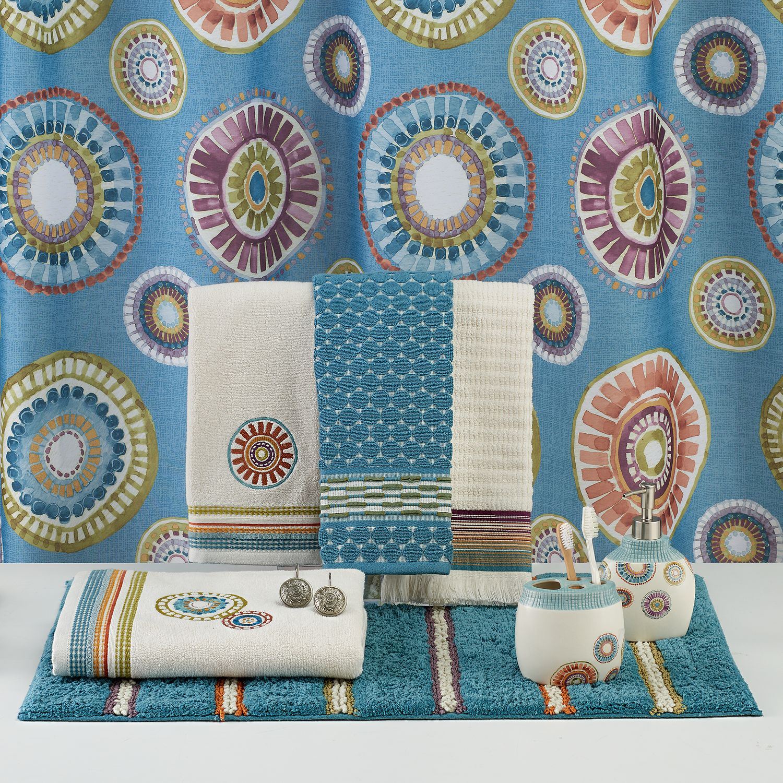 Saturday Knight, Ltd. Caymen Medallion Shower Curtain Collection