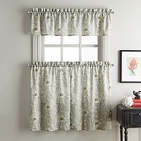 Sketch Floral Tier Kitchen Window Curtains