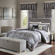 Madison Park Elsa Charcoal Duvet Collection