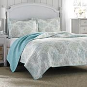Laura Ashley Lifestyles Saltwater Reversible Quilt Collection