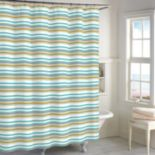 Destinations Sea Stripe Shower Curtain Collection