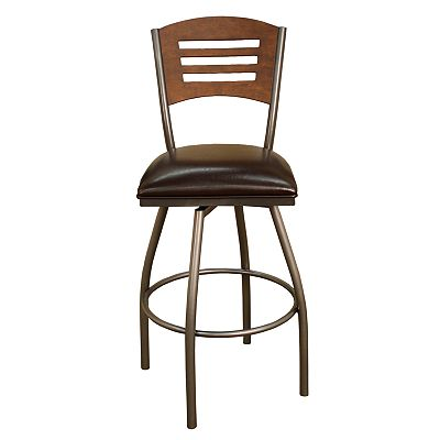 American Heritage Billiards Marion Swivel Bar Stool