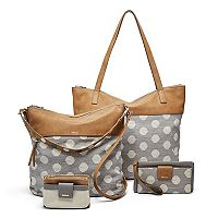 Relic Gray Polka Dot Handbag Collection