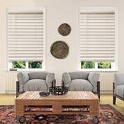 Custom Cut To Order Cordless Faux Wood Blinds Window Treatments