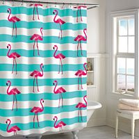 Destinations Pink Flamingo Shower Curtain Collection