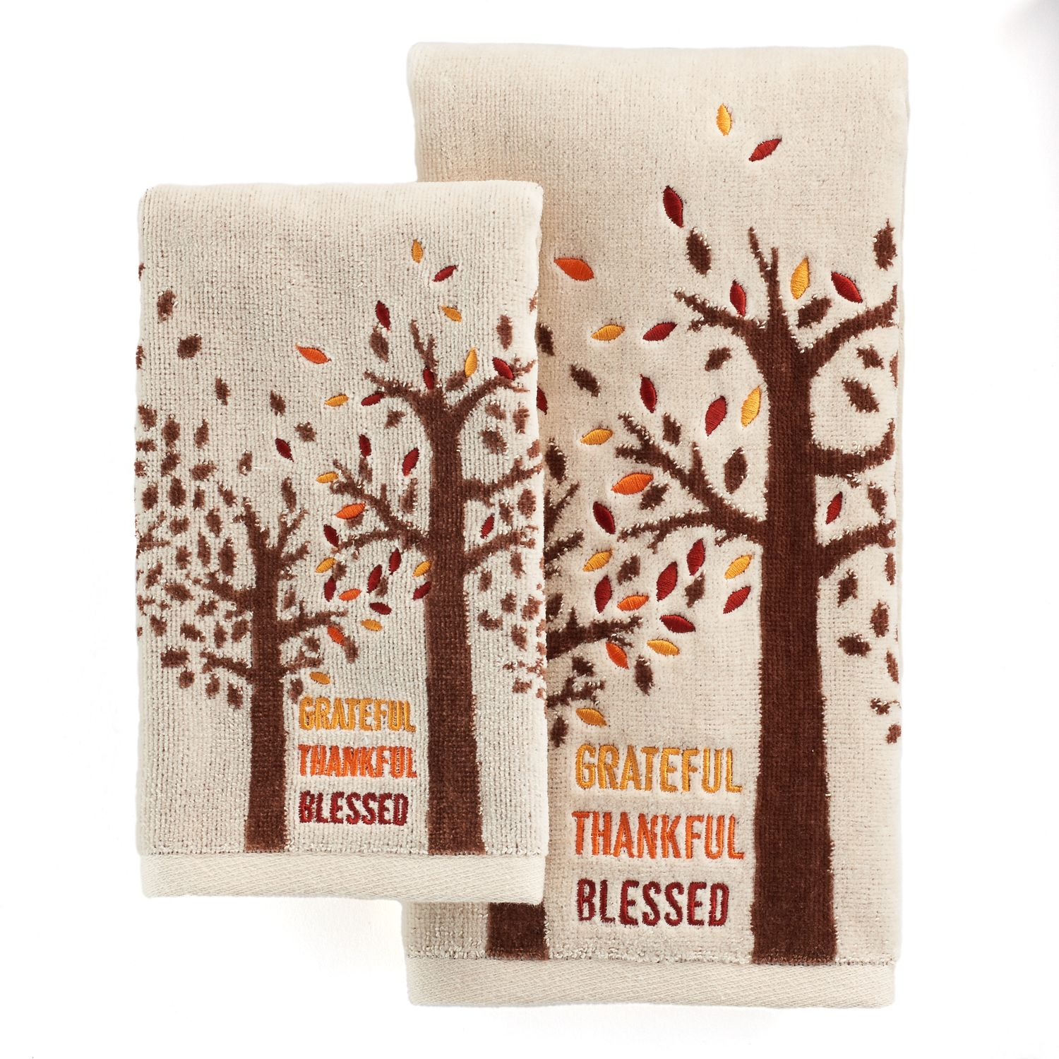 celebrate together tree hand towel collection