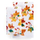 Celebrate Together Printed Leaves Hand Towel Collection