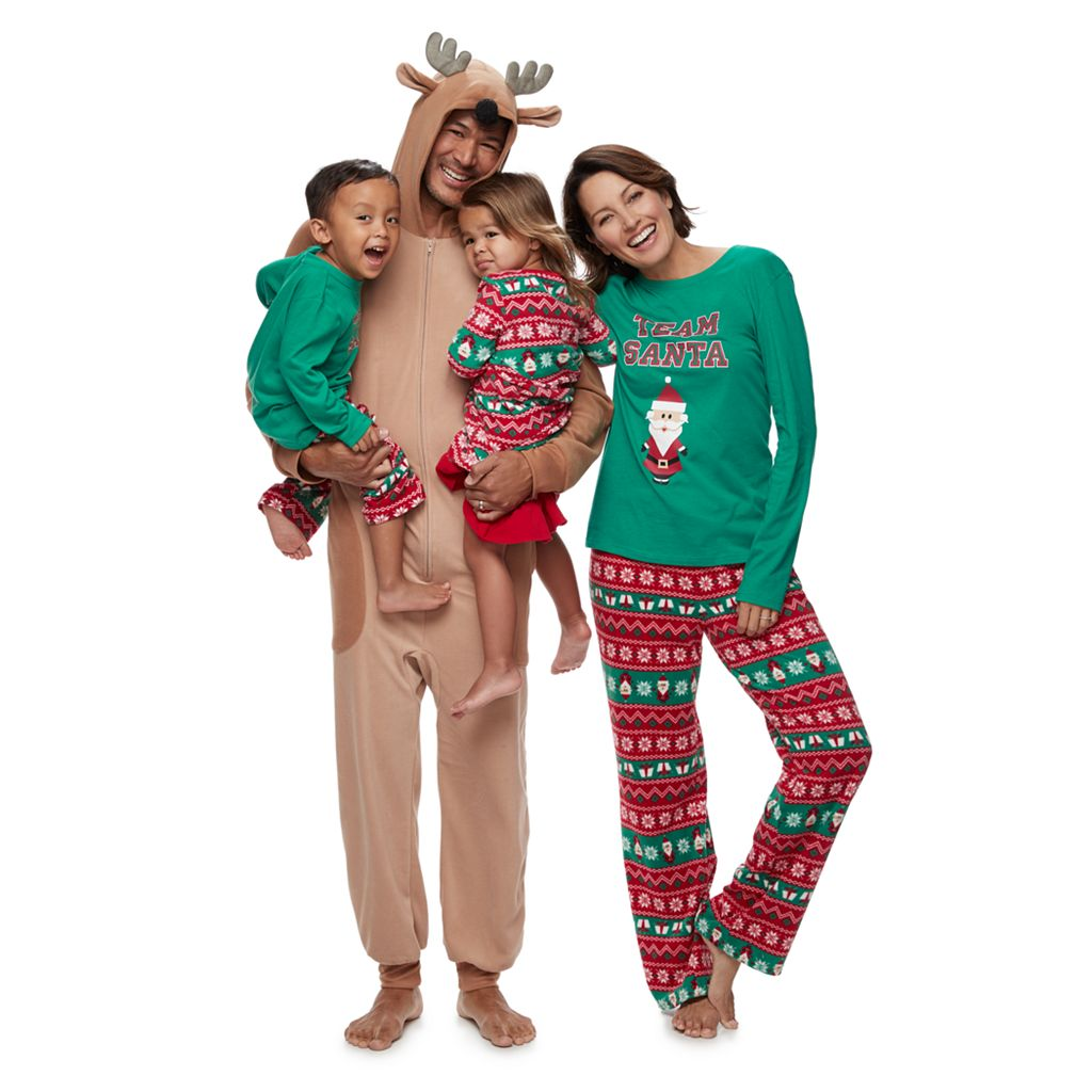 Jammies For Your Families Santa Fairisle Pajamas