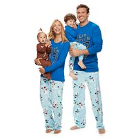 Jammies For Your Families Football Snowmen Pajamas