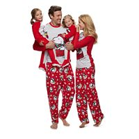 Jammies For Your Families Peanuts Snoopy & Woodstock Sledding Pajamas