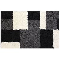 Infinity Home Madison Cubes Geometric Shag Rug