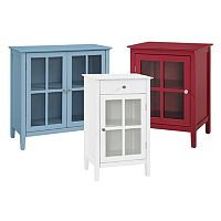 Window Pane Storage Cabinet Collection