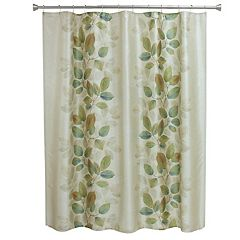 Bacova Waterfall Leaves Shower Curtain Collection