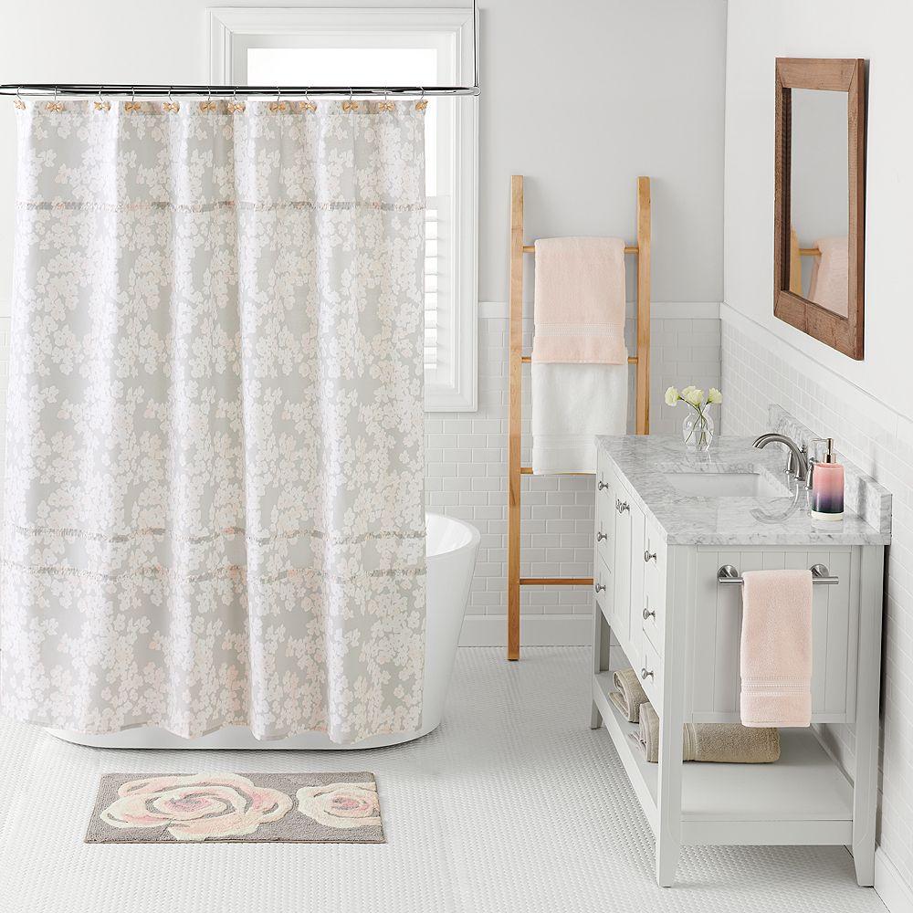 lauren conrad bathroom. LC Lauren Conrad Pale Blossom Shower Curtain Collection Bath Rugs Bathroom  Bed Kohl s