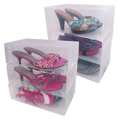 Evriholder 6-pk. Collapsible Shoe Storage Boxes