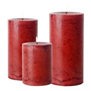 Asian Ginger and Apple Pillar Candles