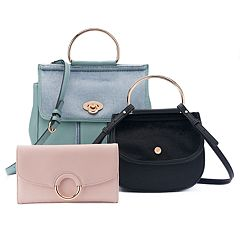 LC Lauren Conrad Ring Detail Handbag Collection
