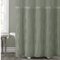 Hookless Palm Leaves Shower Curtain Collection