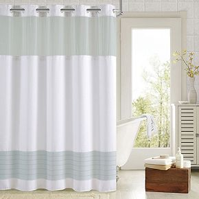 Hookless Colorblock Shower Curtain Collection