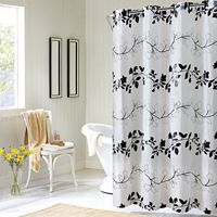 EZ-On by Hookless Floral Vine Shower Curtain Collection