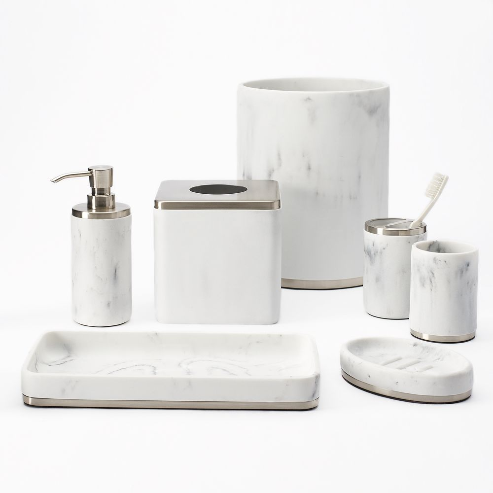 sonoma goods for life faux marble bath accessories collection - Bathroom Accessories Kohl S
