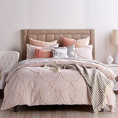 Peri Chenille Scallop Duvet Cover Collection