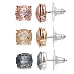 Brilliance Stud Earrings with Swarovski Crystals